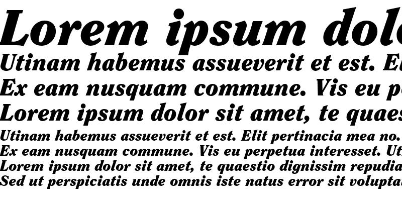 Sample of ITC Clearface Std Black Italic