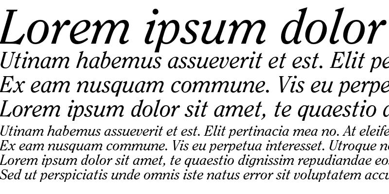 Sample of ITC Clearface Std Italic