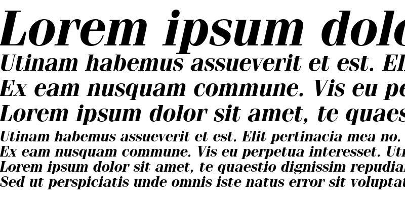 Sample of ITC Fenice Bold Italic