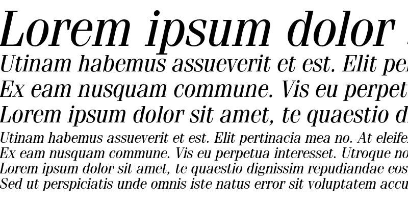 Sample of ITC Fenice Regular Italic