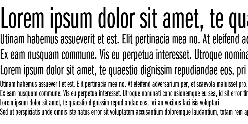Sample of ITC Franklin Gothic Book Extra Compressed