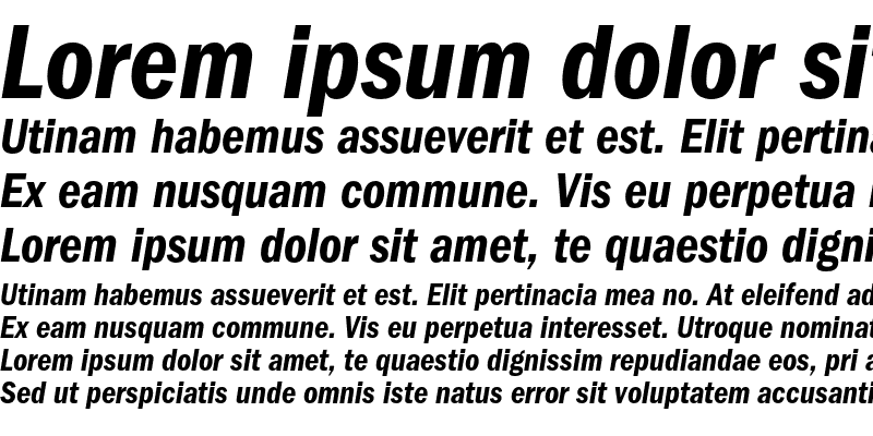 Sample of ITC Franklin Gothic Demi Condensed Italic