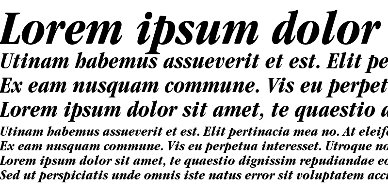 Sample of ITC Garamond Condensed Bold Italic