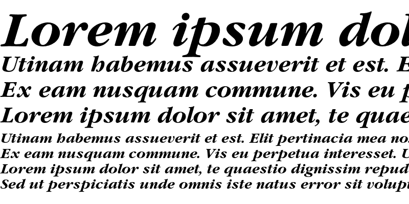 Sample of ITC Garamond LT Bold Italic