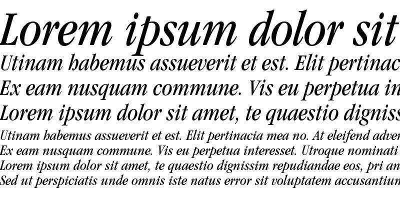 Sample of ITC Garamond LT Book Condensed Italic