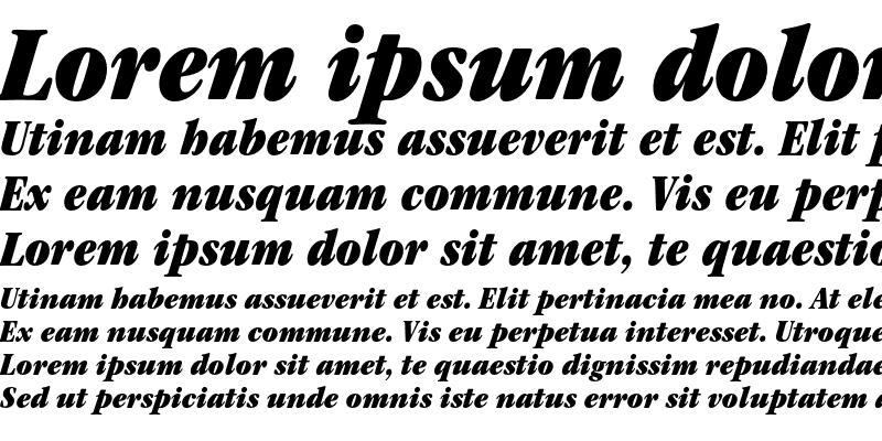 Sample of ITC Garamond Ultra Condensed Italic