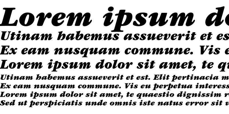 Sample of ITC Garamond Ultra Italic