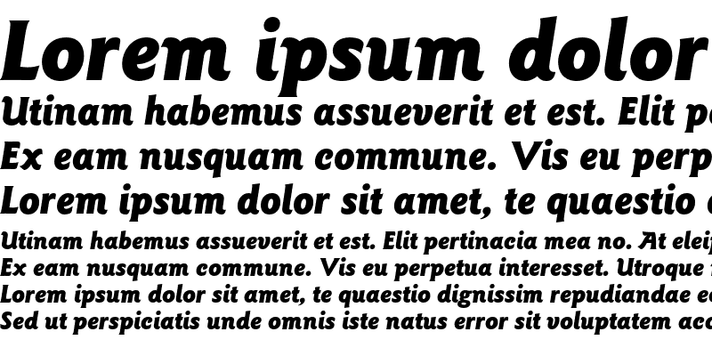 Sample of ITC Goudy Sans LT Black Italic