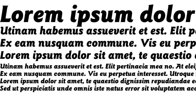 Sample of ITC Goudy Sans Pro Black Italic