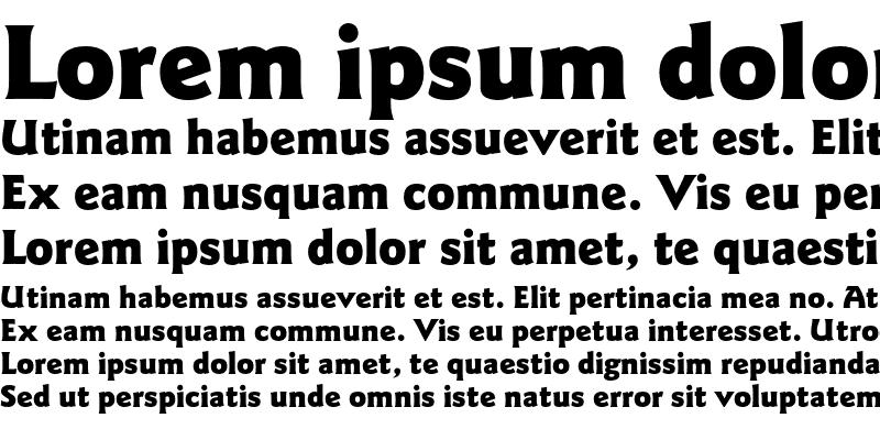 Sample of ITC Goudy Sans Pro Black