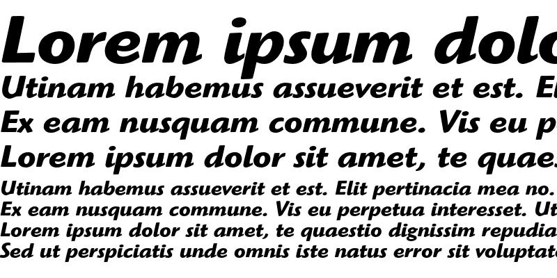 Sample of ITC Highlander Bold Italic