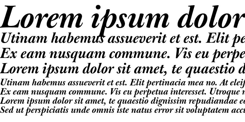 Sample of J Baskerville Med Bold Italic