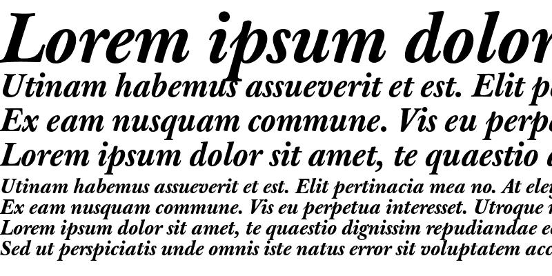 Sample of J Baskerville T Med Bold Italic