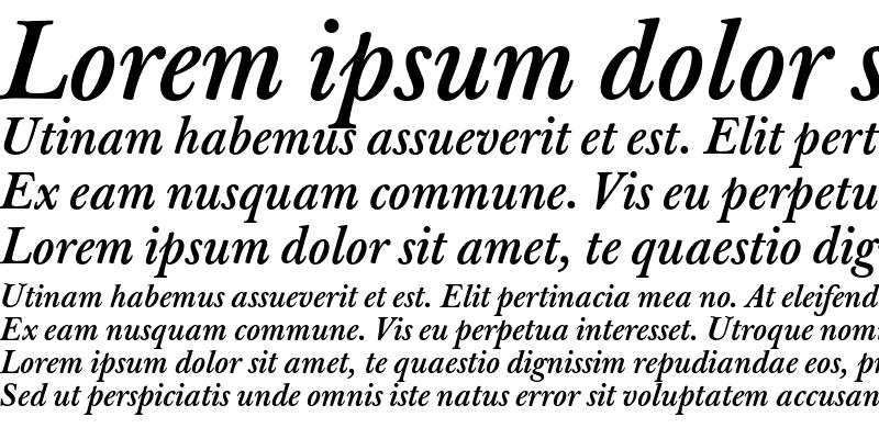 Sample of J Baskerville T Med Italic