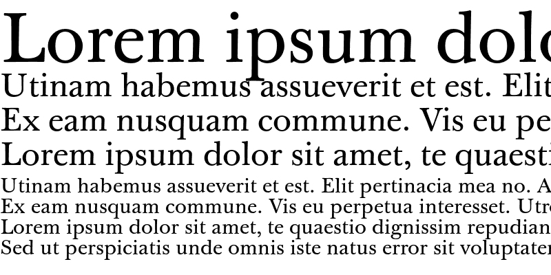 Sample of J Baskerville Text