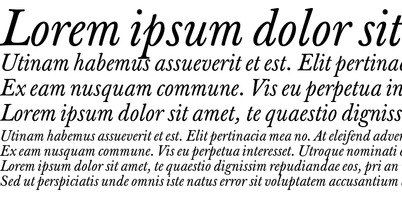 Sample of J Baskerville TxN Italic