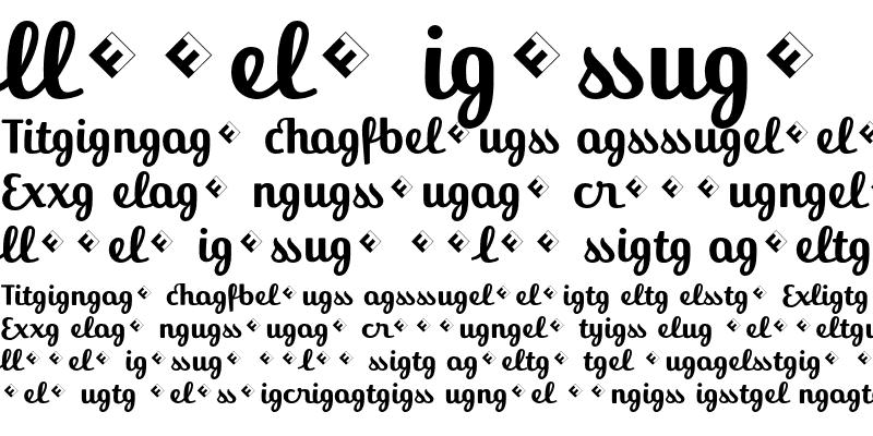 Sample of Jackie-Ligatures Bold