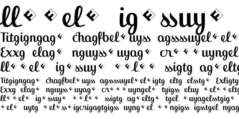 Sample of Jackie-Ligatures