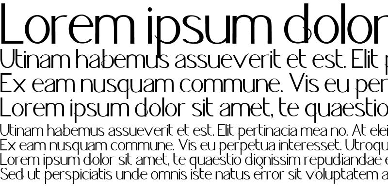 Sample of Jacks Font