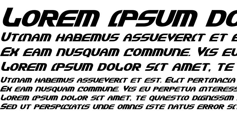 Sample of Jannisaries Bold Italic