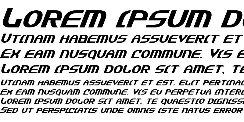 Sample of Jannisaries Italic