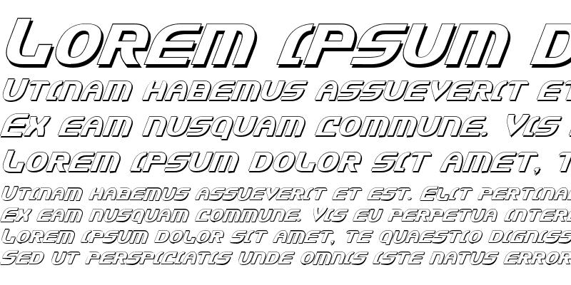 Sample of Jannisaries Shadow Italic