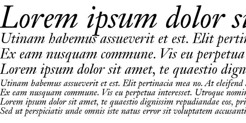 Sample of Janson OldStyle SSi Italic Oldstyle Figures
