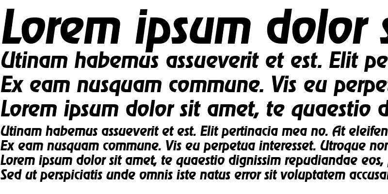Sample of JoeBecker Bold Italic
