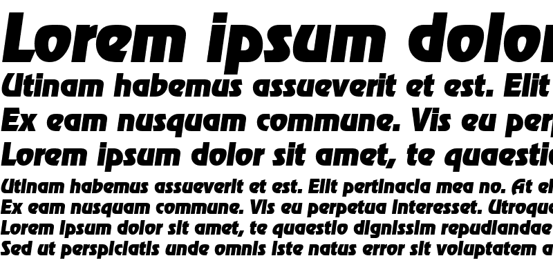 Sample of JoeBecker-Heavy Italic