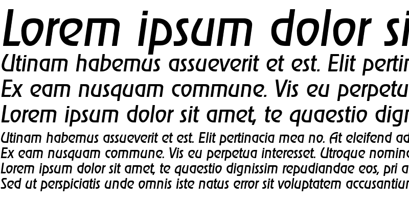 Sample of JoeBecker Italic