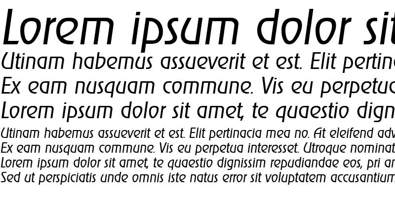 Sample of JoeBecker-Light Italic