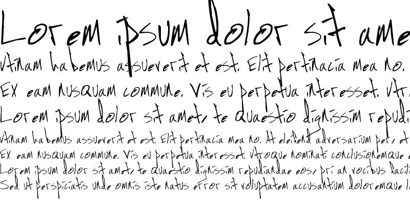 Sample of Jon Handwriting Regular