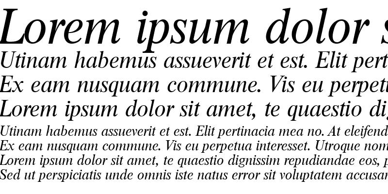 Sample of JonasBecker Italic