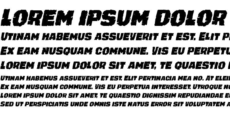 Sample of Jugger Rock Condensed Italic
