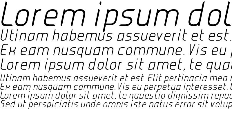 Sample of JUICE Light Italic