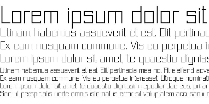 Sample of Just Square LT Std Cyrillic Thin