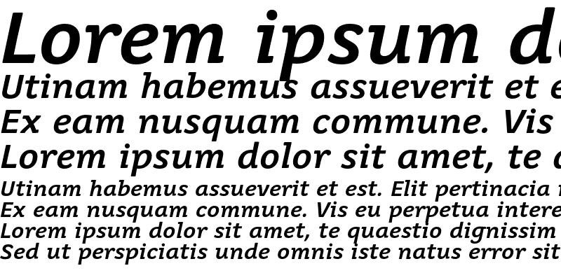 Sample of Juvenis Medium Medium Italic