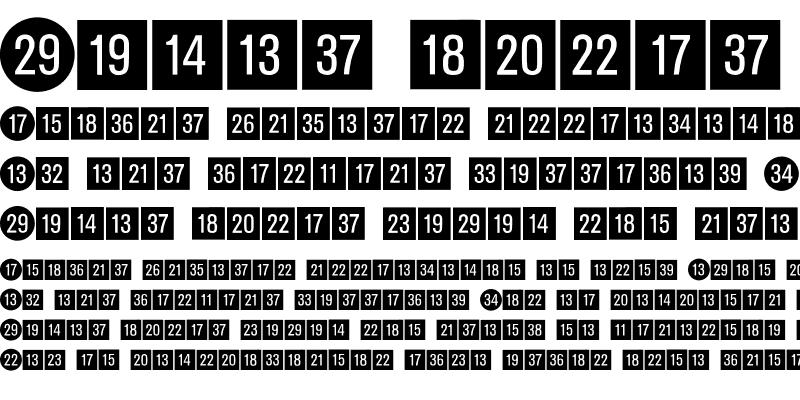 Sample of Katalogziffern Negativ BQ