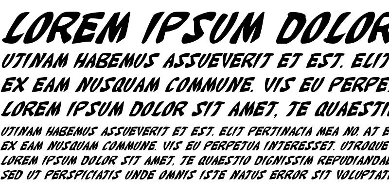 Sample of Katana Italic