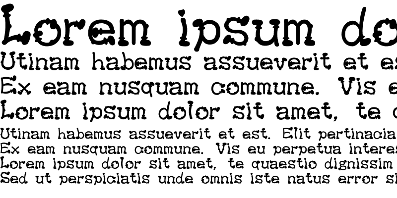 Sample of KeiBoots Font