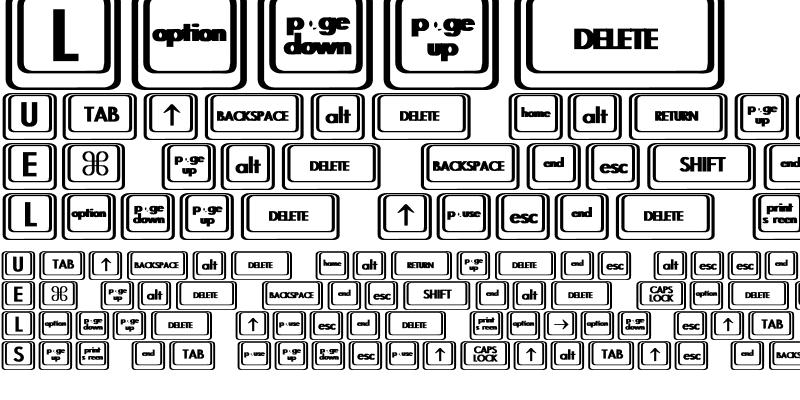 Sample of Keyboard KeysBT