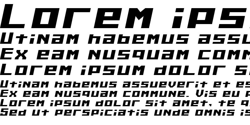 Sample of Kiloton Italic