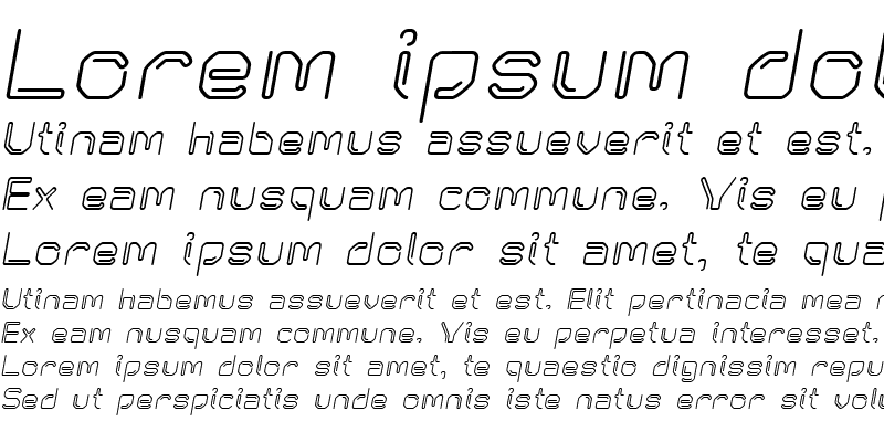 Sample of KneeonBold Italic