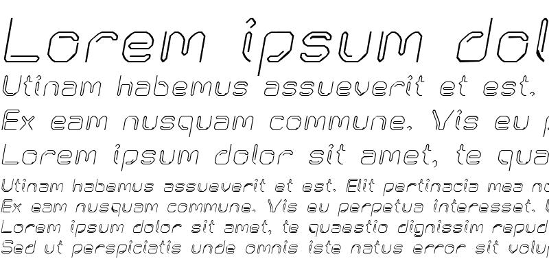 Sample of KneeonSquare Italic