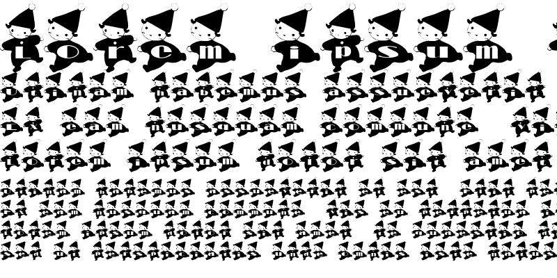 Sample of kobito Font