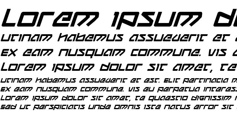 Sample of Kobold Bold Italic