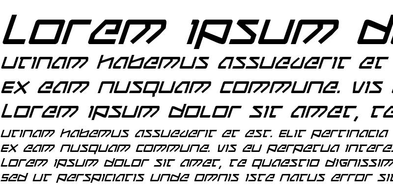Sample of Kobold Italic