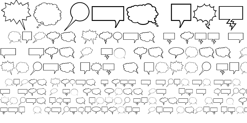 Sample of Komika Bubbles