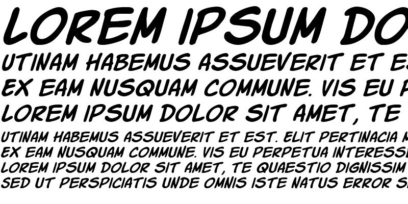Sample of Komika Slick Italic