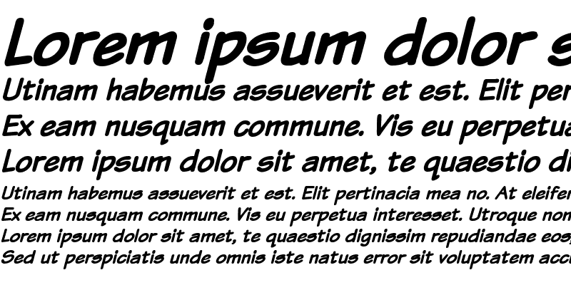 Sample of Komika Text Bold Italic